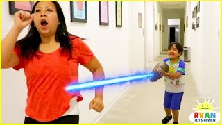 Ryan use Thanos Gauntlet on Mommy with fun Kids Adventure!