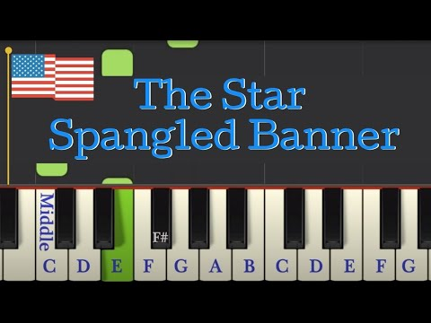 Easy Piano Tutorial: The Star Spangled Banner