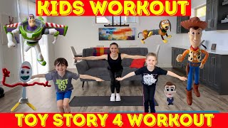 Kids Workout - Toy Story 4 Figures And Their Exercises For Kids! (age 3-10)