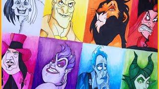 Drawing Disney; Villains - Rainbow Edition