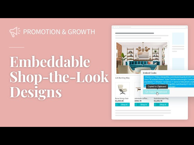 Embeddable Shop-the-Look Designs