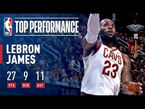 LeBron Dishes And Swishes While Making History Vs Pelicans!