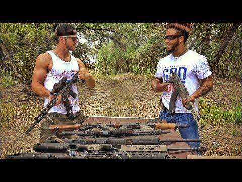 AR-15 против автомата Калашникова, что лучше? | Разрушительное ранчо | Перевод Zёбры видео