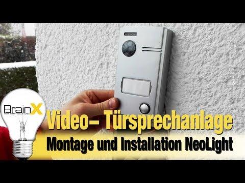 Montage und Installation einer Video Türsprechanlage NeoLight  Porta 7