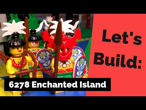Lego 6278 Islanders Pirate Enchanted Island complet à 98 % Notice de 1994 -NN19