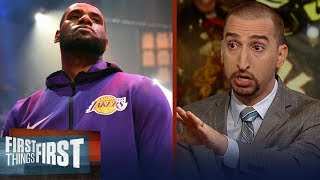 Nick Wright on LeBron calling himself the GOAT, Harden's 43-pt night | NBA | FIRST THINGS FIRST