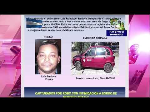Policía Nacional presenta a delincuentes capturados en Managua