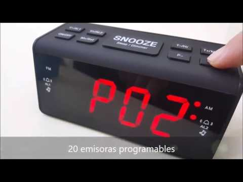 Despertador Digital FM   AM de TopElek, Gran pantalla, cómodos botones, radio y dos alarmas