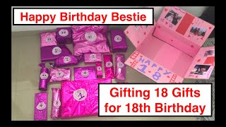 ✨Gifting My Best Friend 18 Gifts For Her 18th Birthday//💜