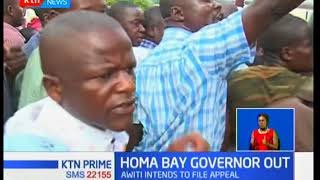 Homa Bay governor Cyprian Awiti becomes the second governor to have his election annulled