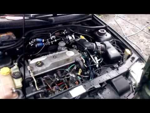 Фото к видео: Обзор и запуск Ford Escort 1.8 tdi с дополнительным электронасосам