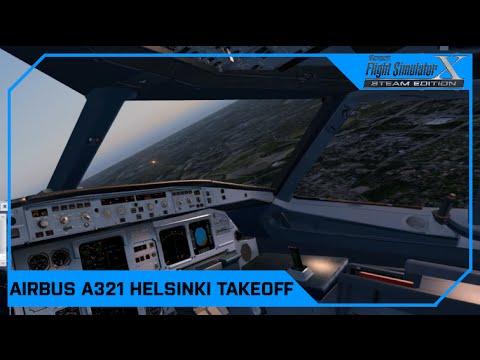 Airbus A321 Finnair Helsinki Departure :: Microsoft Flight