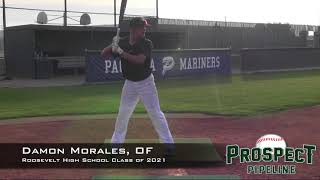 Damon Morales Prospect Video, OF, Roosevelt High School Class of 2021