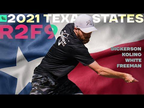 2021 Texas State Disc Golf Championship   R2F9 LEAD   Koling, White, Dickerson, Freeman   Jomez
