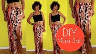 DIY Maxi Skirt With A Slit Side | Sewing For Beginners | PINK CHOCOLATE BREAK