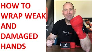 HANDWRAP TECHNIQUE FOR WEAK AND DAMAGED HANDS