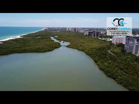 Pelican Bay Preserve and Clam Pass Fly Over Video Naples, Florida