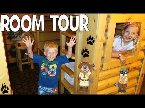 Family Fun Pack Kid Cabin Room Tour at Great Wolf Lodge