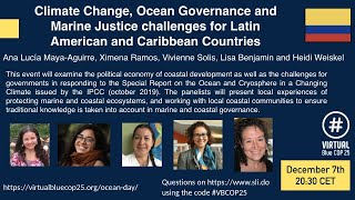 Climate Change, Ocean Governance and Marine Justice for Latin American and Caribbean Countries