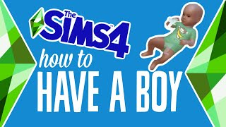 How to Have a Baby Boy in The Sims 4 (Influence Gender) #TheSims 4