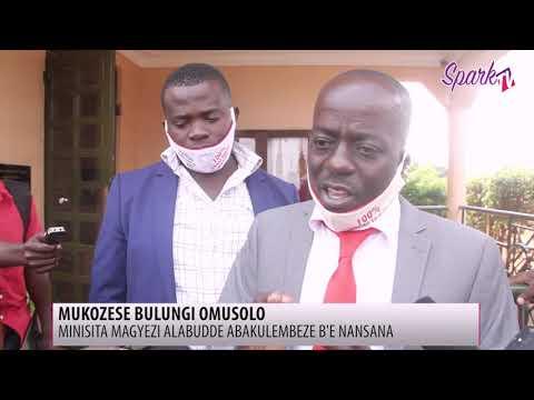 Minisita alabudde abakulembeze e Nansana ku kuzanyira mu nsimbi