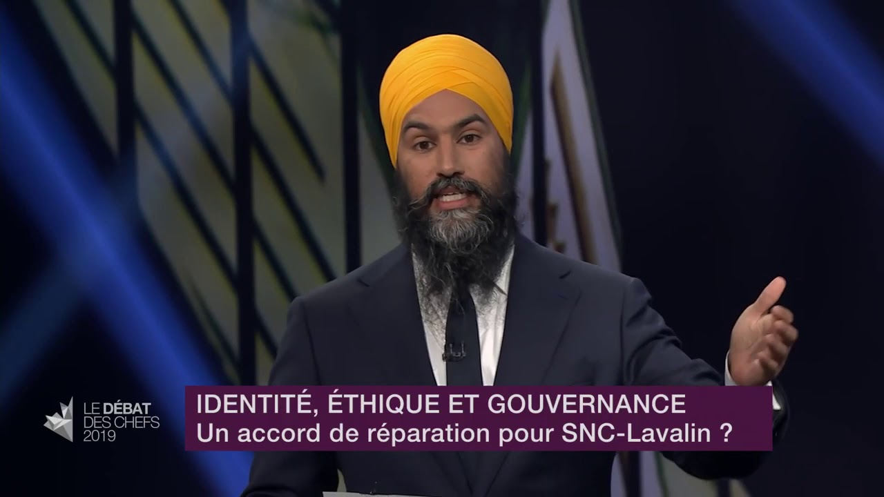Jagmeet Singh answers a question about SNC-Lavalin