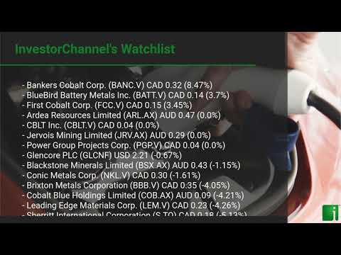 InvestorChannel's Cobalt Watchlist Update for Tuesday, September 22, 2020, 16:30 EST