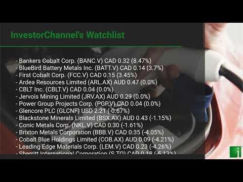 InvestorChannel's Cobalt Watchlist Update for Tuesday, September 22, 2020, 16:30 EST