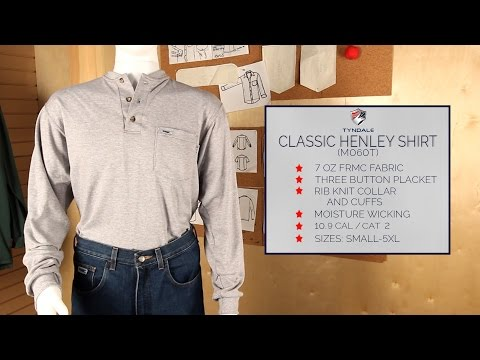 Long Sleeve Henley Product Video M060T