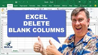 Learn Excel - Delete Blank Columns - Podcast 2171