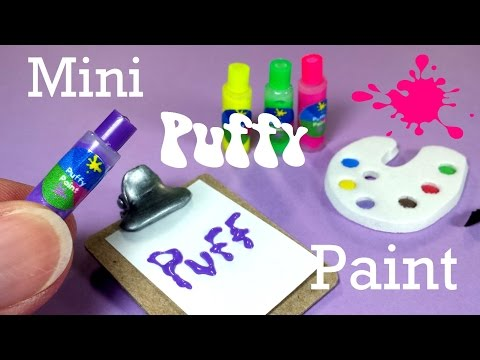 DIY Miniature Puff Paint (Really Works) Doll School & Art Supplies
