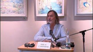 Никас Сафронов пообщался с журналистами и жителями Великого Новгорода