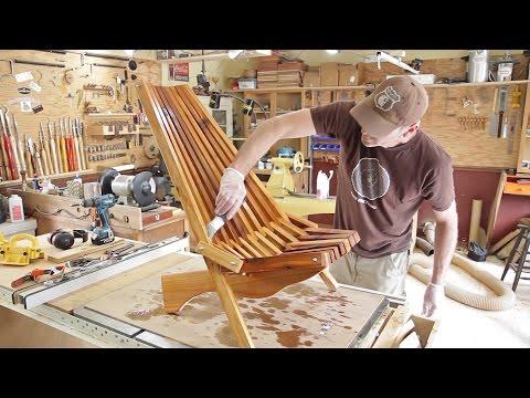 Woodworking  Folding Cedar Lawn Chair