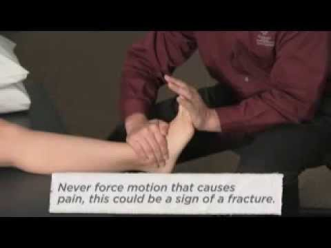 Video M.I.C.E. First Aid treatment for an ankle sprain