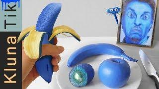 Eating BLUE FRUIT!!!  Kluna Tik Dinner   ASMR eating sounds no talk
