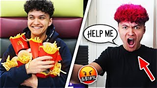 IGNORING MY LITTLE BROTHER FOR 24 HOURS *PRANK*