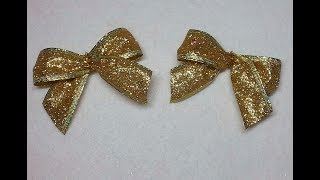 DIY~Make Super Easy Bows For Wreath Ornaments, Angel Wings, Boxes and Bags!