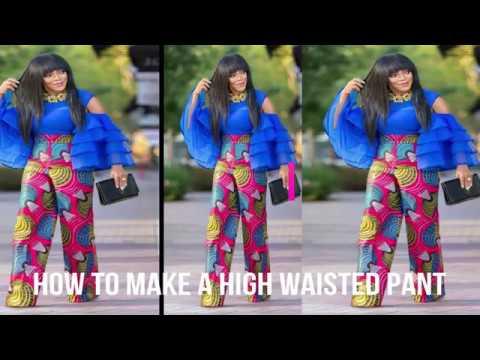 How To Make A High Waiisted Pants