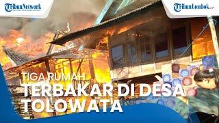 Tiga Rumah dan Satu Kios Hangus Terbakar di Bima, Warga Sempat Mendengar Bunyi Ledakan