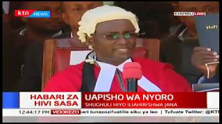 HAPPENING NOW: James  Nyoro takes oath of Office