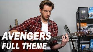 Avengers Theme Song on Acoustic Guitar  + full tutorial