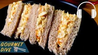 日式蛋沙拉三明治/Japanese Egg Salad Sandwich/たまごサンド | The Sound Of Food