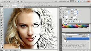 Из фотографии рисунок карандашом за 3 шага