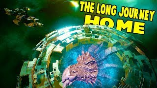 GIANT SPACE DRAGONS?! Stargates and Alien Infestations! - The Long Journey Home Part 2 Gameplay