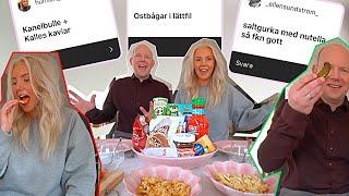TESTAR ERA KONSTIGA MATKOMBINATIONER ft. pappa Jonas *kAviAR pÅ KanELbuLLe!?*