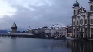 スイス発 冬のカペル橋周辺の風景【スイス情報.com】