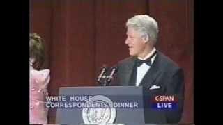 Bill Clinton Bids Farewell at the 2000 White House Correspondents