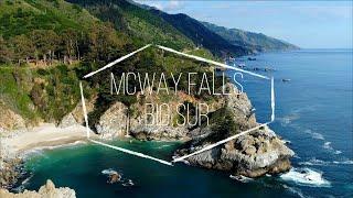 McWay Falls, Big Sur, California | 4K Drone Video