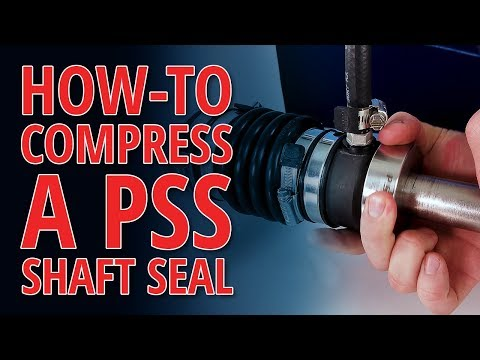 How To Compress A PSS Shaft Seal