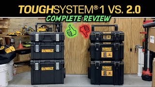 DeWalt ToughSYSTEM 1 Vs. Tough SYSTEM 2.0 Toolboxes - Which one is better?